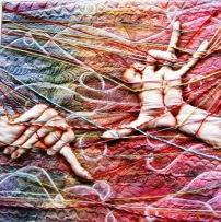 Arazzo esposto alla mostra del patchwork di Praga