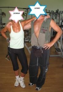 Io, la prugna secca, e Davide il mio personal trainer, nemmeno un po' gonfiato