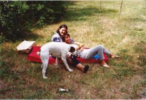 1993 Io e Carla a fare la sceme con Bistecca
