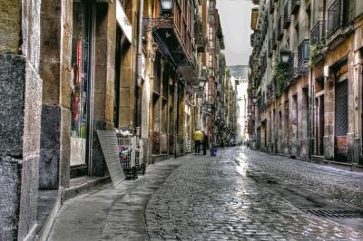 Piccole strade strette e colorate