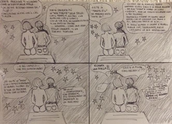 La vignetta disegnata da Sinoma. Io e lei insieme!