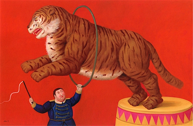tiger-and-trainer-f-botero